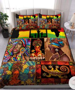 African Black Woman Bedding Set c
