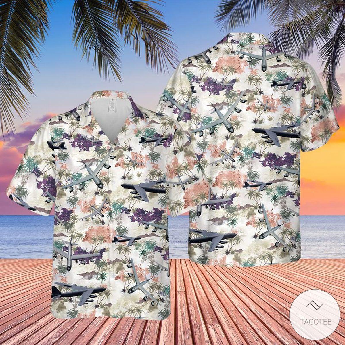 Limited Edition Air Force Boeing B-52 Stratofortress Hawaiian Shirt, Beach Shorts