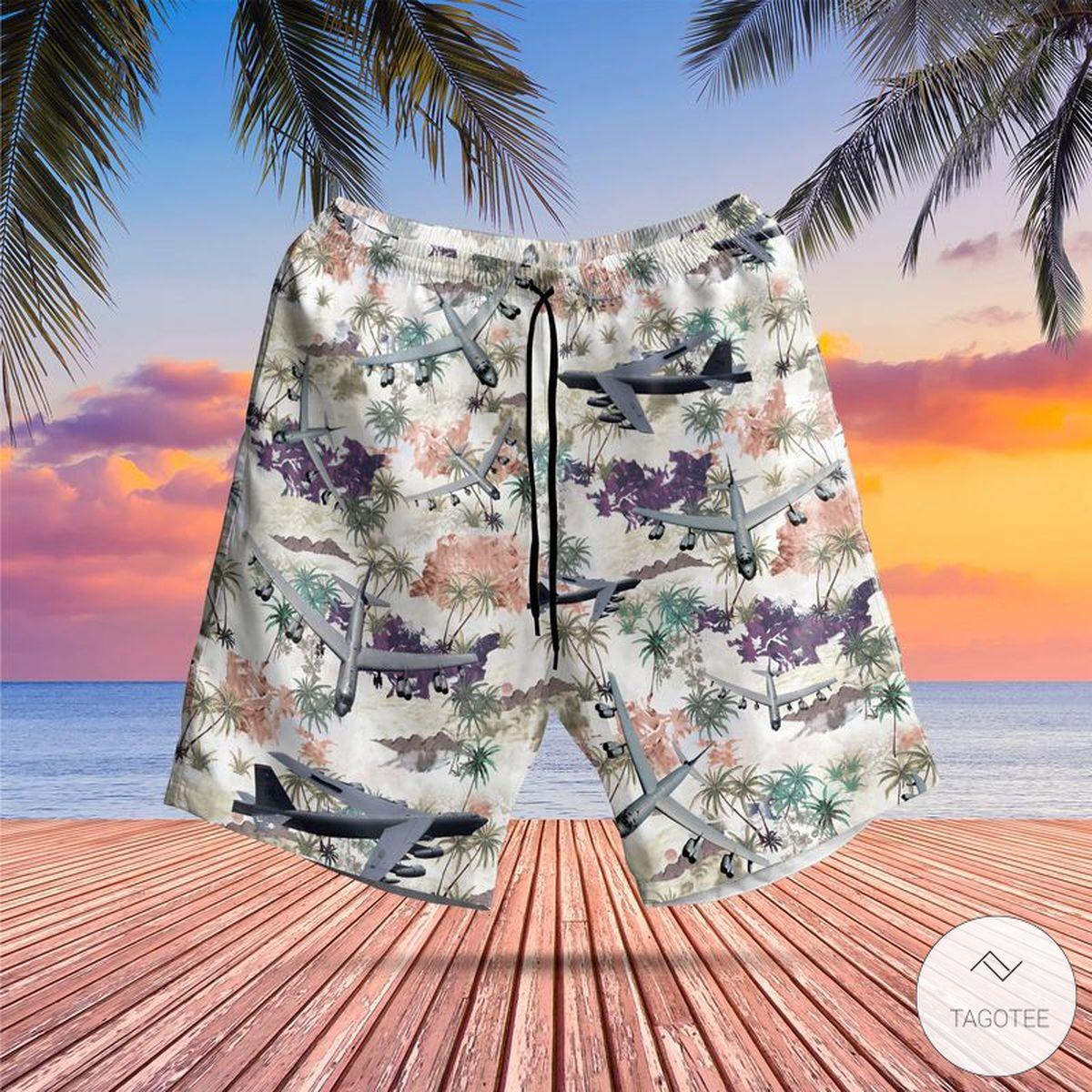 Us Store Air Force Boeing B-52 Stratofortress Hawaiian Shirt, Beach Shorts