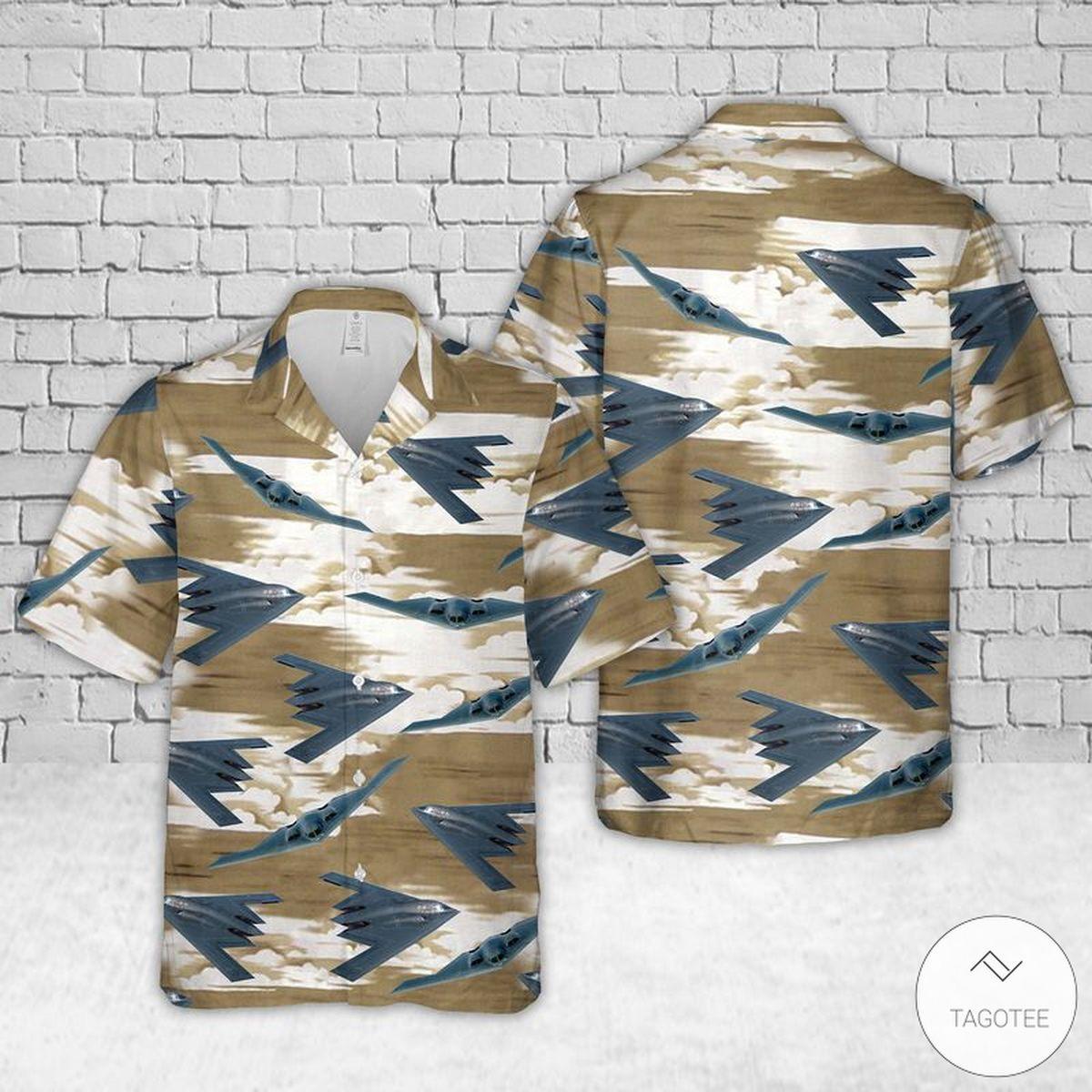 Air Force Northrop Grumman B-2 Spirit Hawaiian Shirt, Beach Shorts