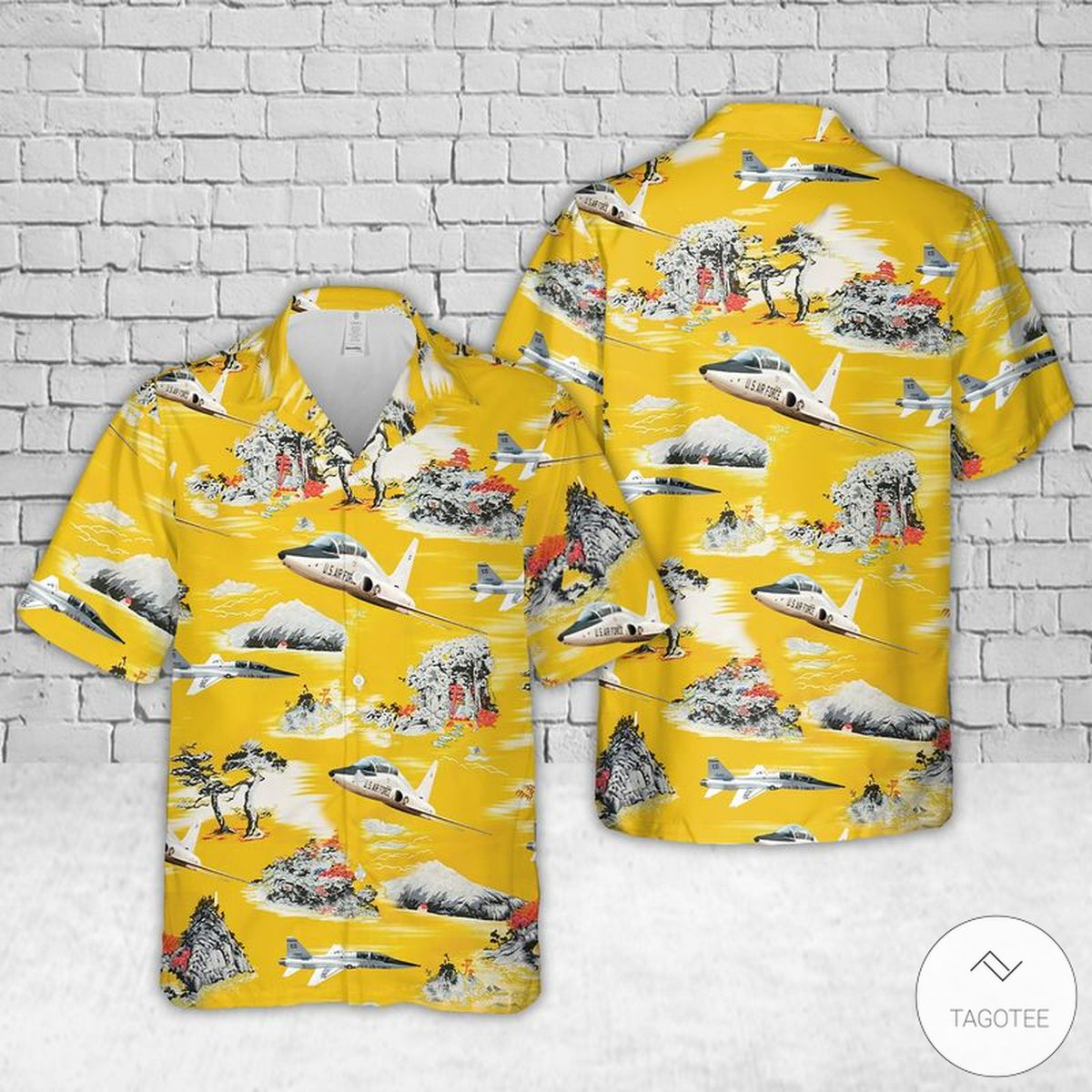 Air Force Northrop T-38 Talon Hawaiian Shirt, Beach Shorts