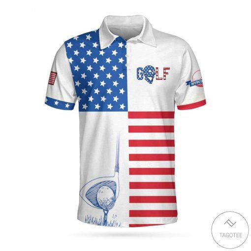 American Flag Golf Polo Shirt
