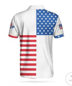 American Flag Golf Polo Shirtz