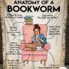 Anatomy Of A Bookworm Fleece Blanket