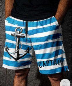 Anchor Captain Sailor Swim Trunks Beach Shorts