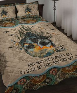 And Into The Forest I Go To Lose My Mind And Find My Soul Mandala Quilt Bedding Set