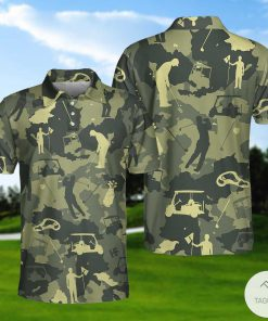 Army Camouflage Texture Golf Set Polo Shirtx