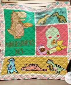 Auntiesaurus And Baby Quilt