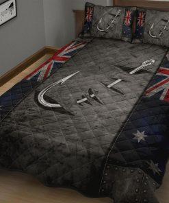 Australian Fishing Flag Quilt Bedding Setz