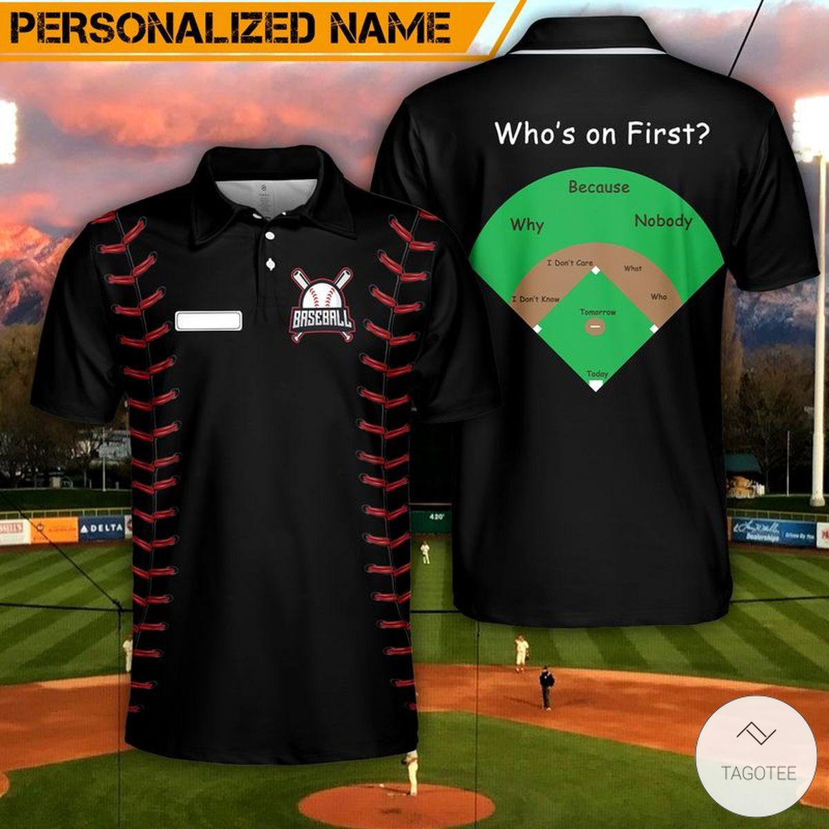 Baseball Who's On First Polo Shirt