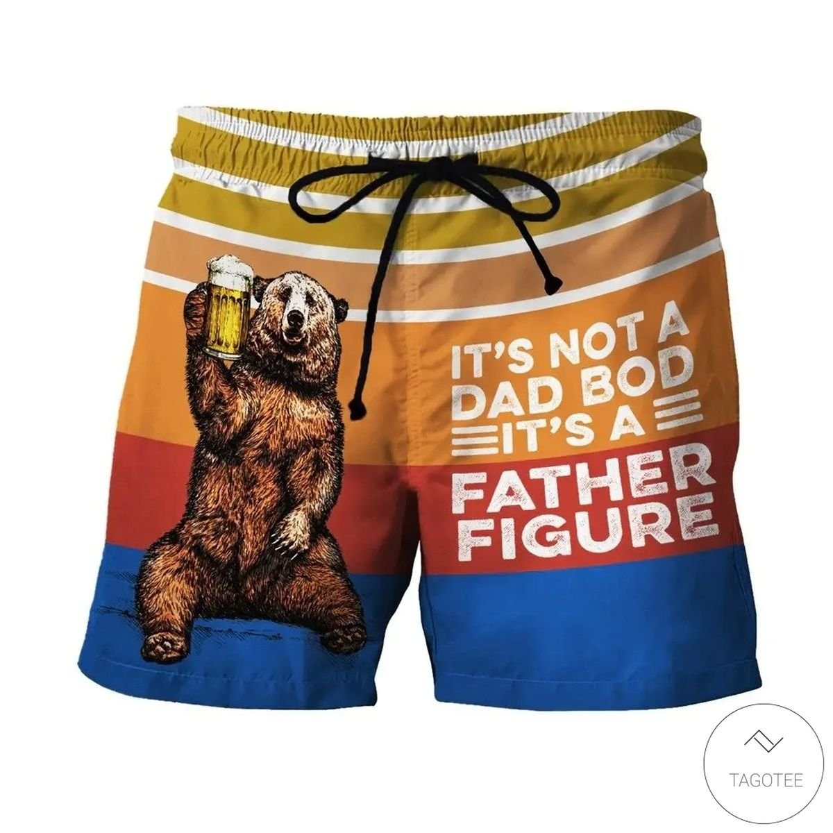 Bear Beer It's Not A Dad Bod It's A Father Figure Swim Trunks Beach Shorts
