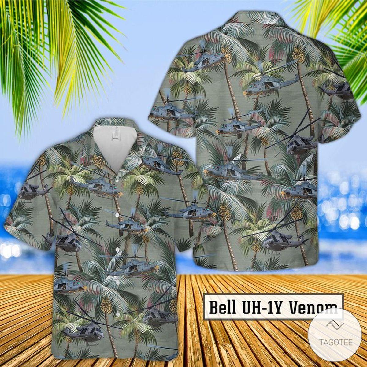 Bell UH-1Y Venom Hawaiian Shirt, Beach Shorts