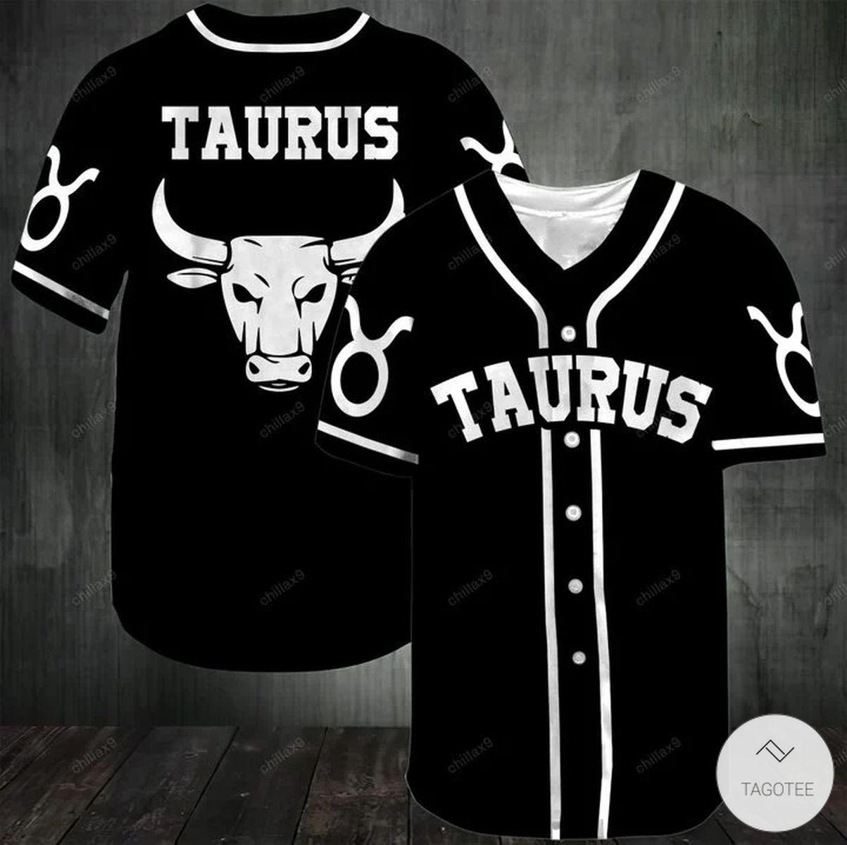 Black Taurus Baseball Jersey