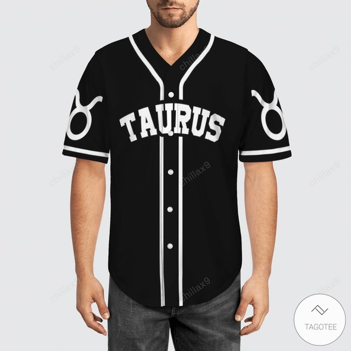 Black Taurus Baseball Jerseyz