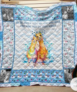 Blue Alpaca Mama And She Loved A Little Boy Very Very Much Quilt