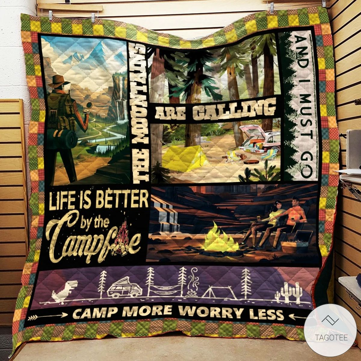 Camp More Worry Less Quilt