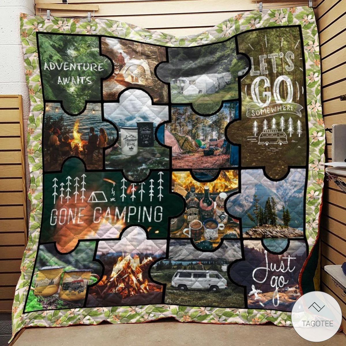 Camping Just Go Quilt