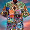 Cat Hippie Peace Hawaiian Shirt