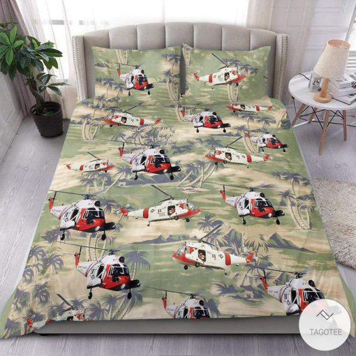 Coast Guard Sikorsky HH-52 Seaguard Helicopter Bedding Set