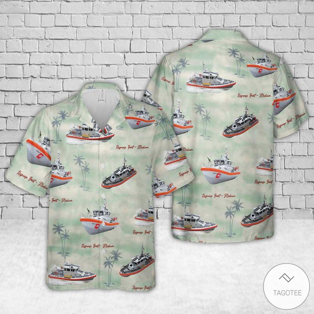 Coast Guard USS Hawaiian Shirt, Beach Shorts