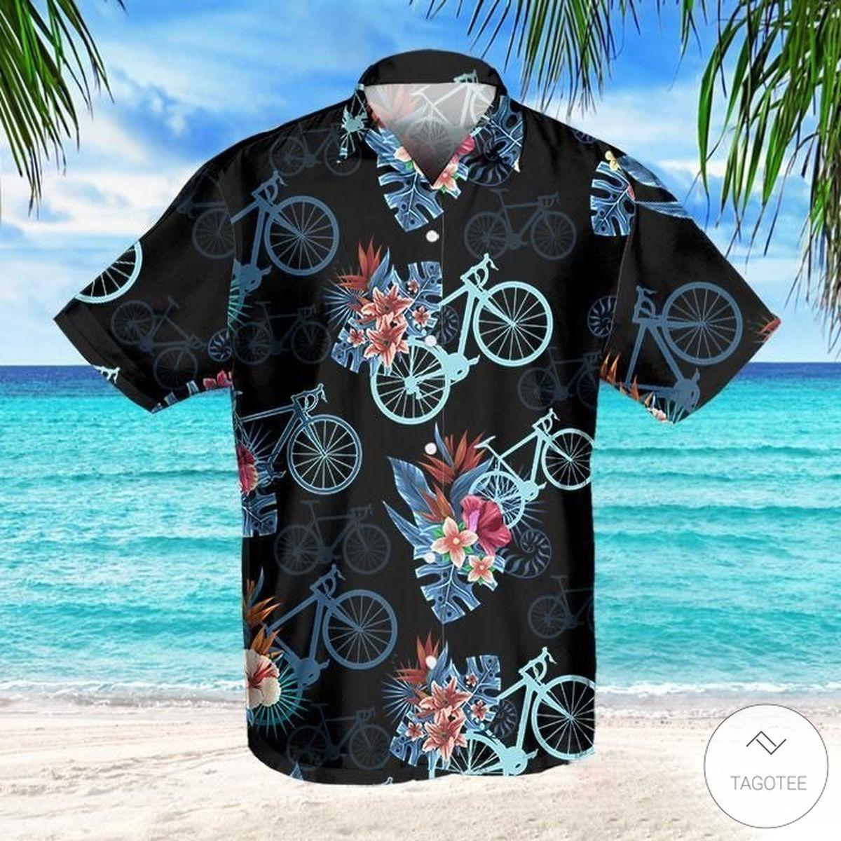 Cycling Tropical Hawaiian Shirt