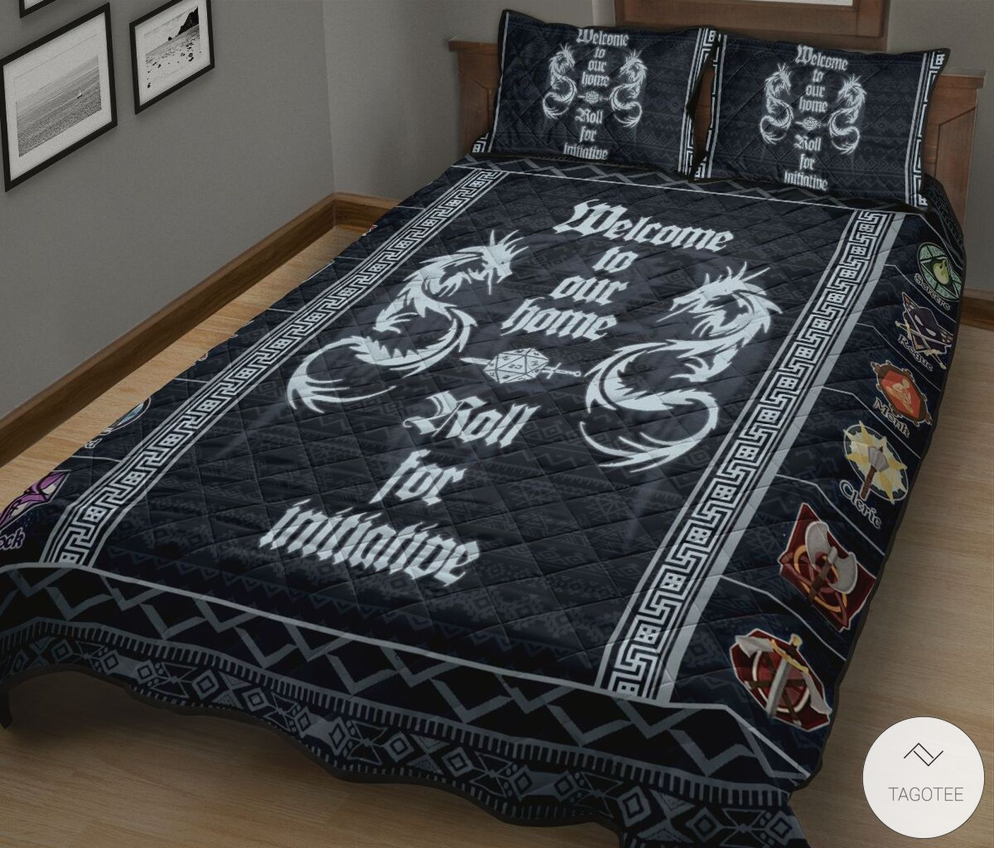 Dungeons & Dragons Welcome To Our Home Roll For Initiative Quilt Bedding Setz