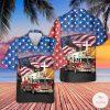 Firefighter American Eagle Hawaiian Shirt