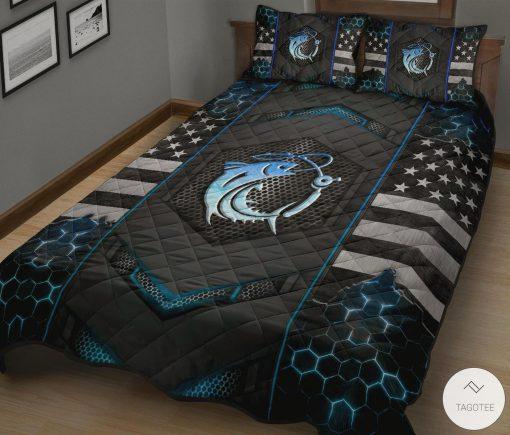 Fishing Back The Blue Police Quilt Bedding Setz