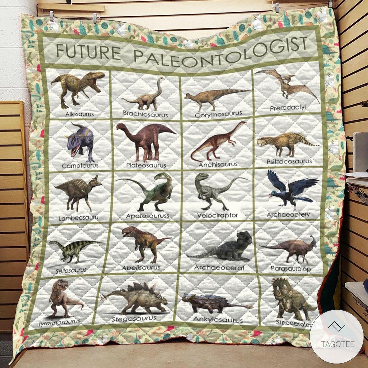 Future Paleontologist Dinosaurs Quilt