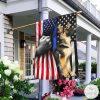 German Shepherd The Thin Blue Line American US Flag