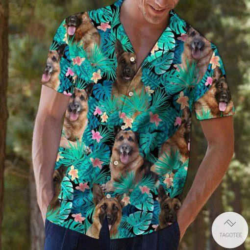 German Shepherd Tropical Hawaiian Shirt