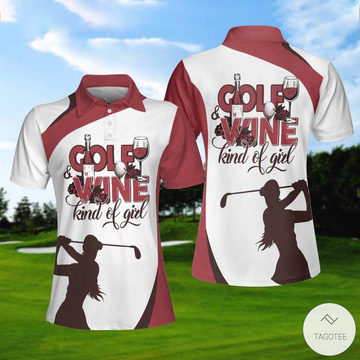 Golf And Wine Kind Of Girl Polo Shirtx
