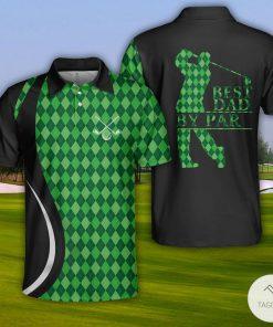 Golf Best Dad By Par Polo Shirt