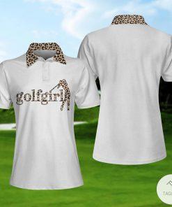 Golf Girl Leopard Pattern Polo Shirtx