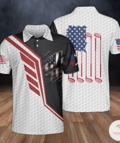 Golf US Flag Polo Shirt