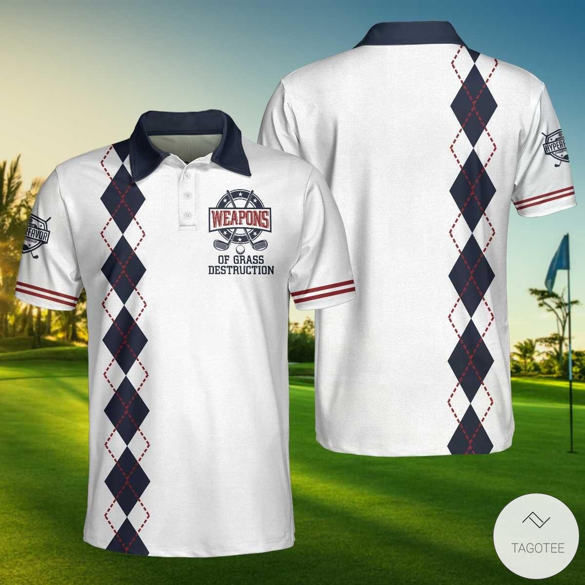 Golf Weapons Of Grass Destruction Polo Shirtx