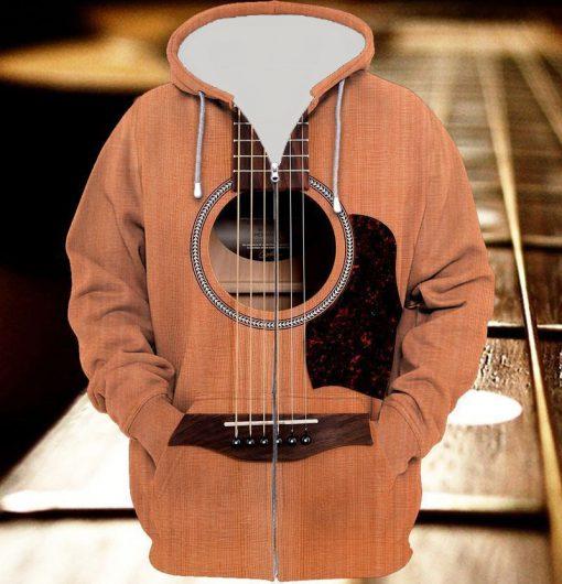 Guitar 3D Zip Hoodie
