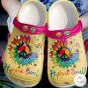 Hippie Soul Flower Crocs Crocband Clog