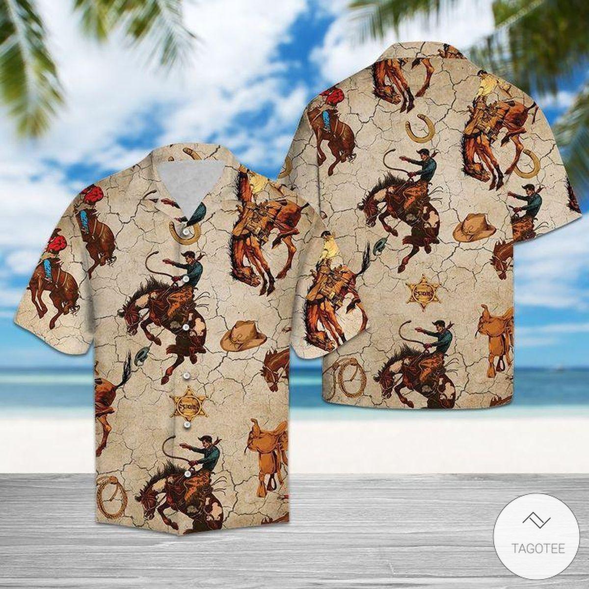 Horse Riding Cowboy Hawaiian Shirt