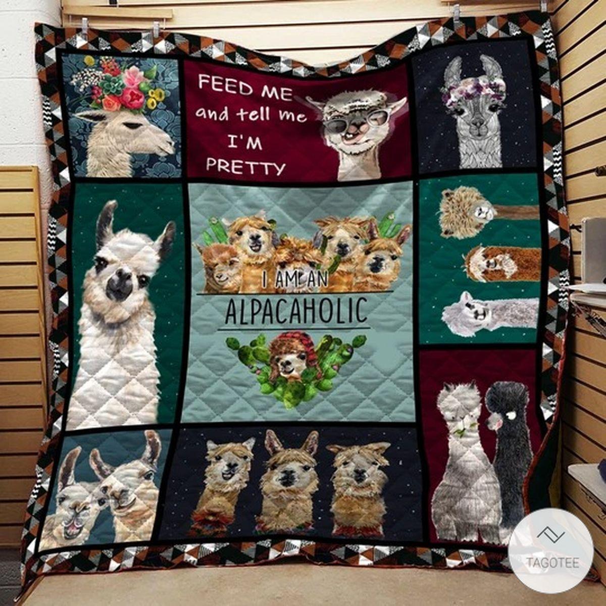 I Am An Alpacaholic Alpaca Quilt