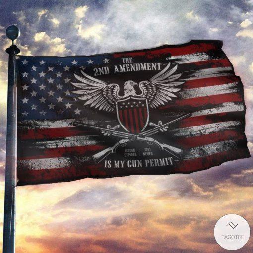 It's My Gun Permit - 2nd Amendment Flag