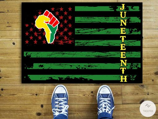 Juneteenth African Pride Black Freedom Independent Day Doormat
