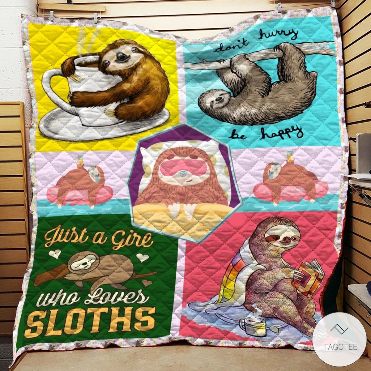 Just A Girl Who Loves Sloths Quilt