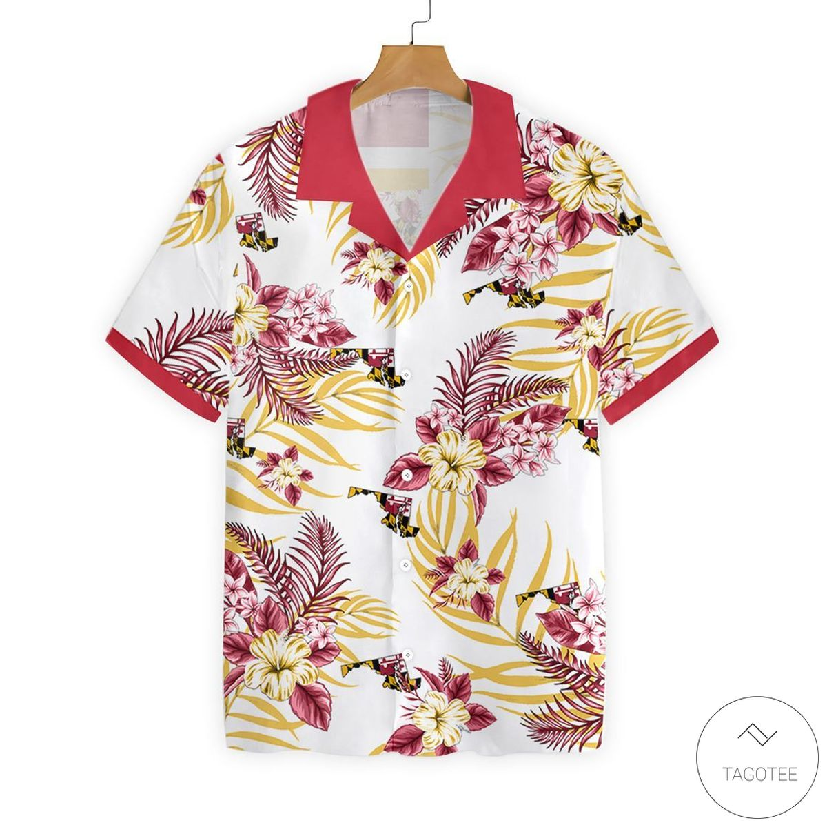 Maryland Proud Button Hawaiian Shirt