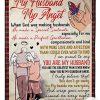 My Husband My Angel When God Was Making Husbands Fleece Blanket