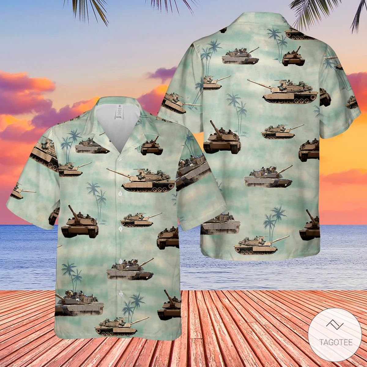 National Guard Tank Hawaiian Shirt