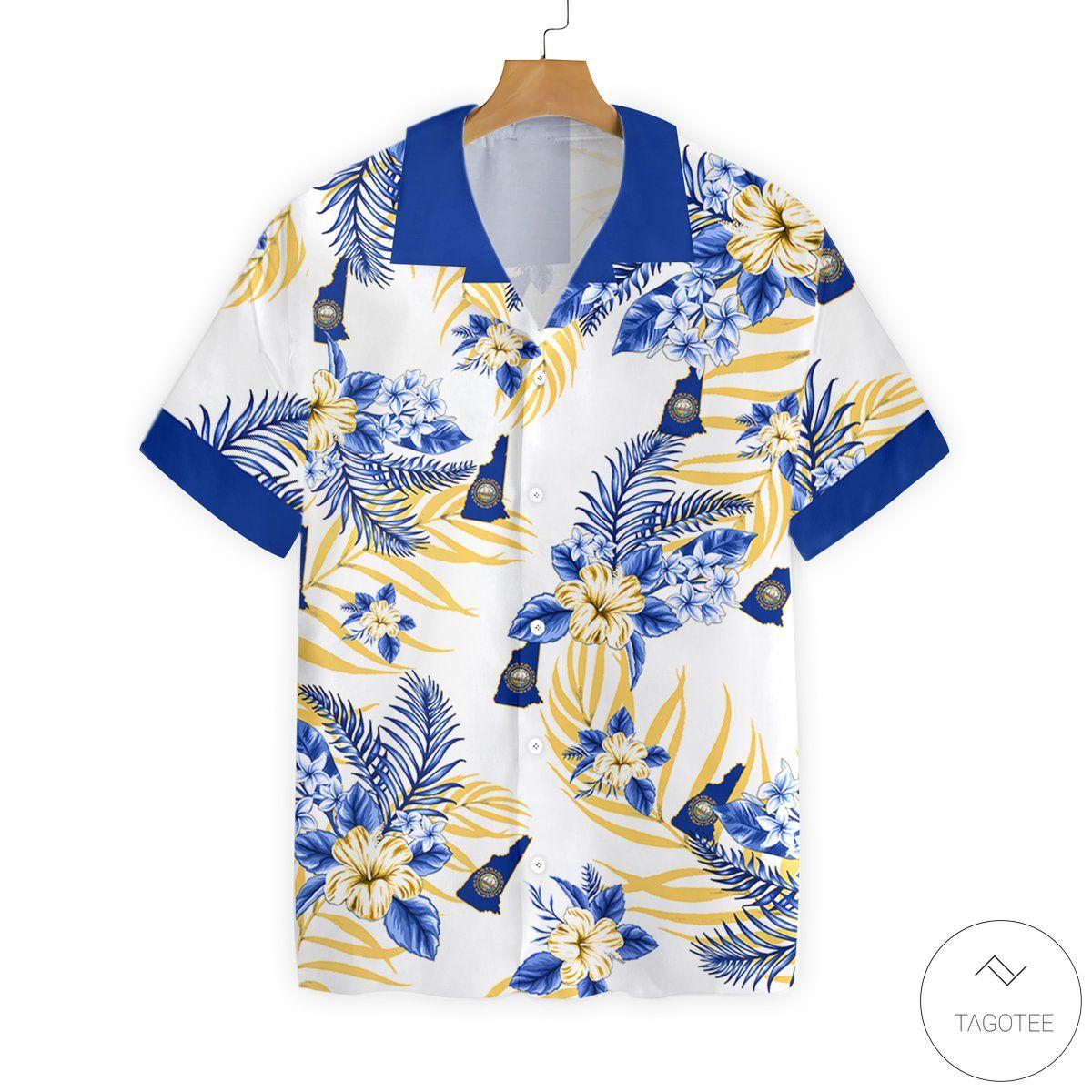 New Hampshire Button Hawaiian Shirt