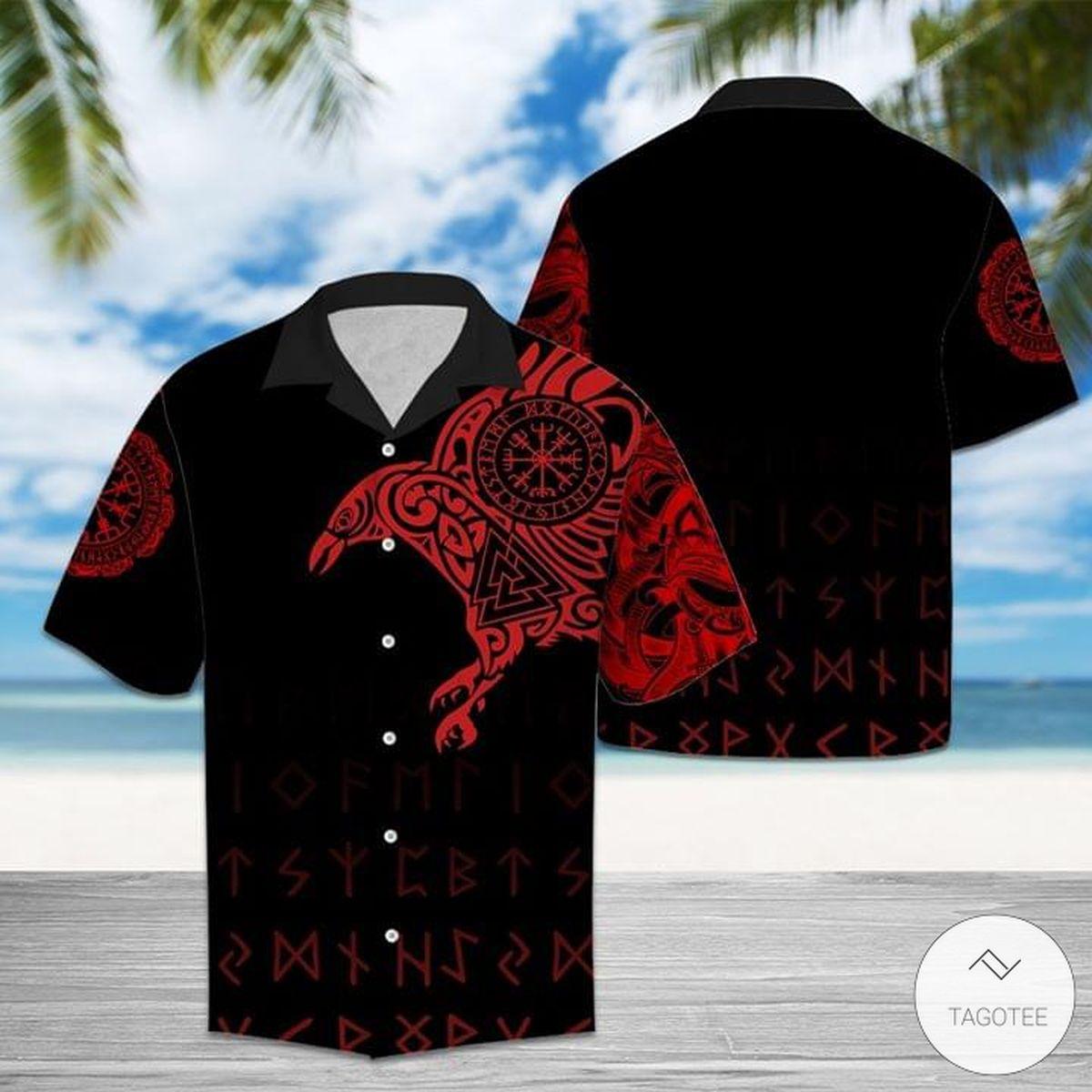 Norse Mythology The Raven Of Odin Hawaiian Shirt