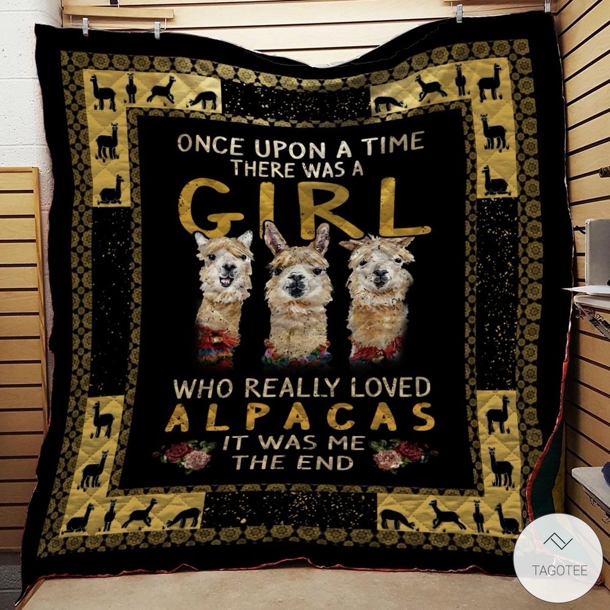 Once Upon A Time There Was A Girl Who Really Loved Alpacas Quilt