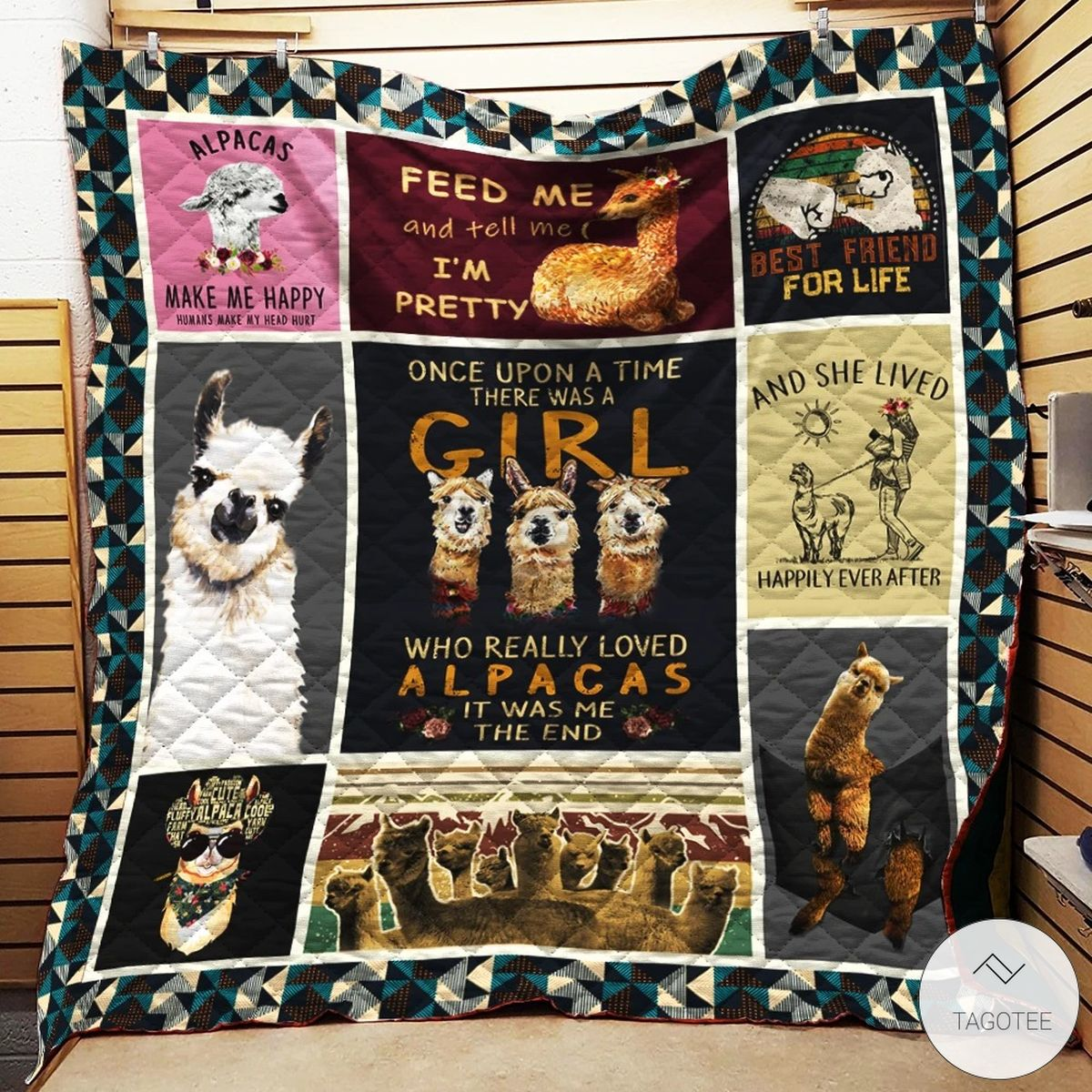 One Upon A Time There Was A Girl Who Really Loved Alpacas Quilt